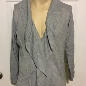 George Gray Cardigan Sweater Long Sleeve 2X 18/20